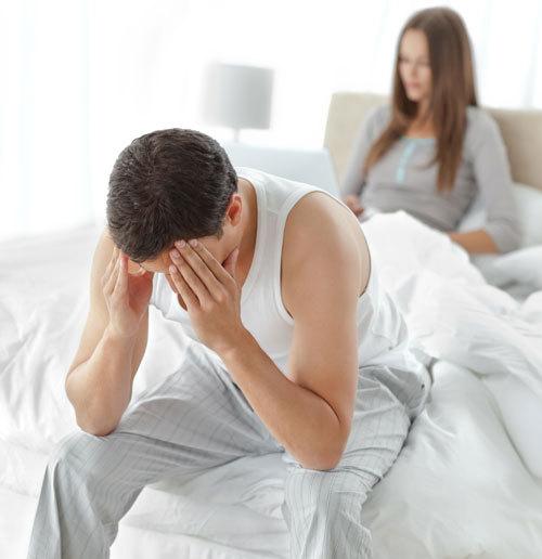 erecție numai atunci când constipație