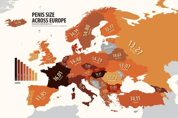 Mărimea medie a unui PENIS în România și în alte 112 țări - STUDIU